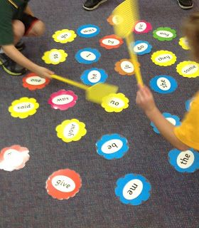 Literacy centres - the first six months sight word swat as a literacy center: