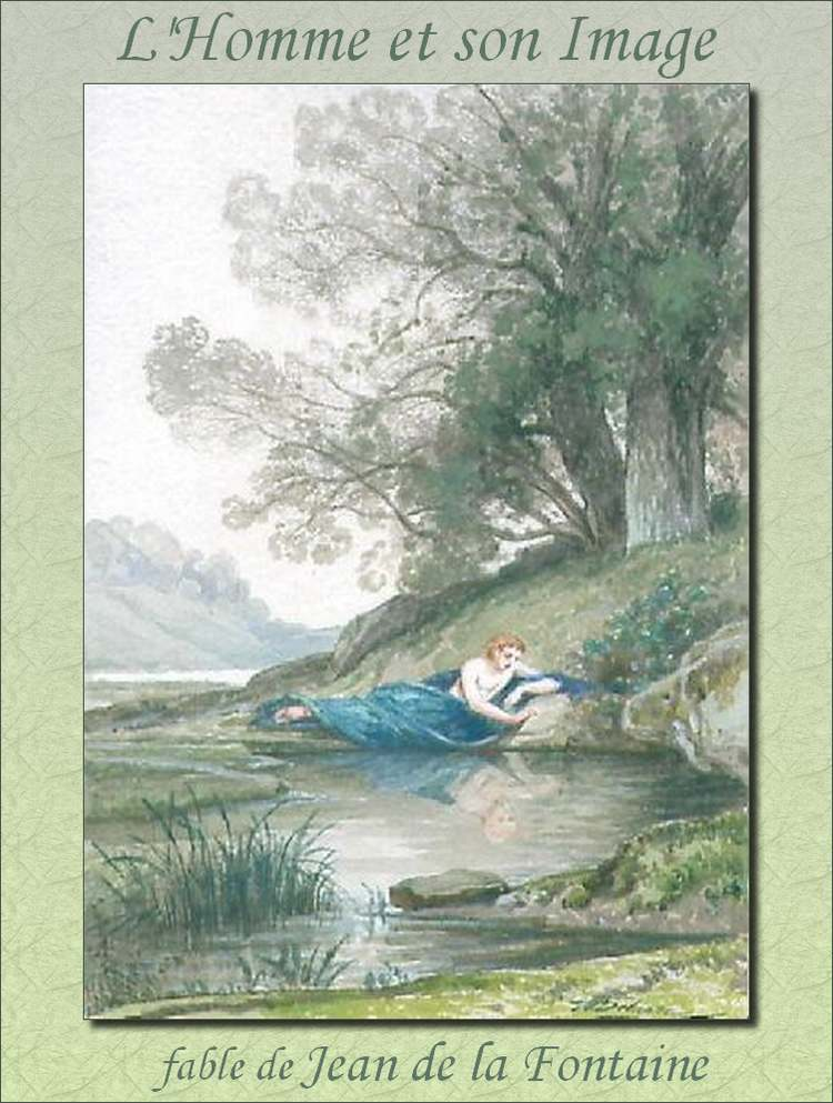 """"""" L'Homme et son Image """"  fable de Jean de la Fontaine"""