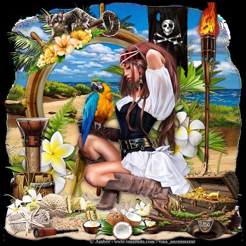 """Ma réalisation du tuto """"Pirate & parrot"""""""