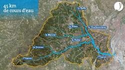 La rivière Izeron à Francheville (Rhône)