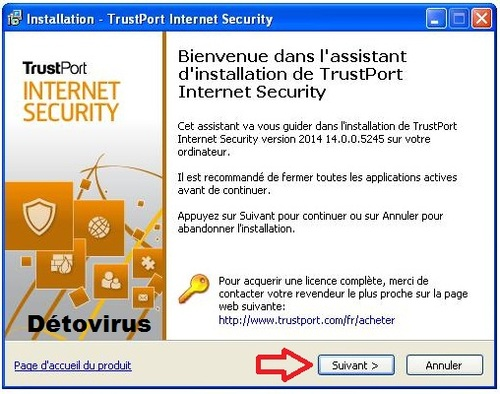 TrustPort Internet Security 2014 - Licence 6 mois gratuits