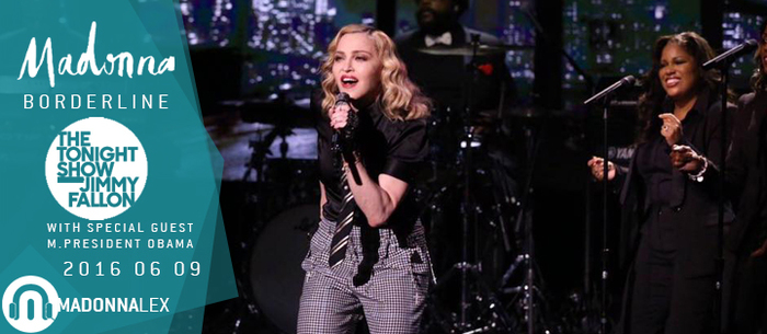 Madonna chante Borderline chez Jimmy Fallon, le soir d'une speciale Barack Obama