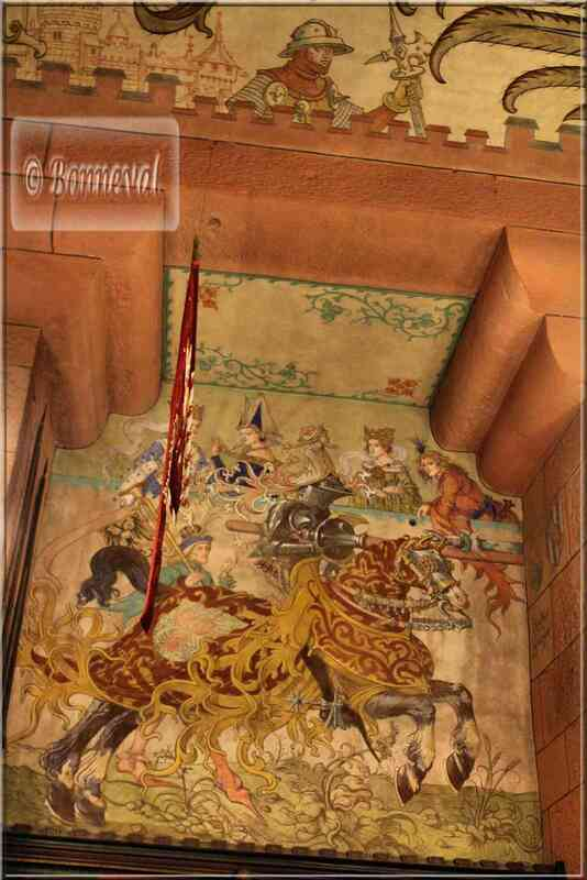 Alsace Haut-Koenigsbourg Fresques Salle du Kaiser Renaître comme le Phoenix