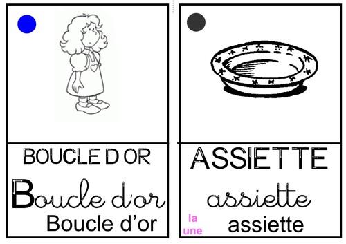 """Imagier """"Boucle d'or"""""""