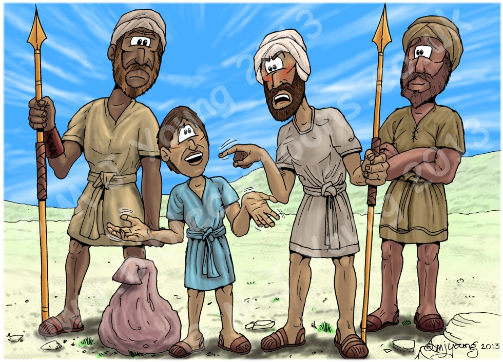 1 Samuel 17 - David and Goliath - Scene 05 - Eliab