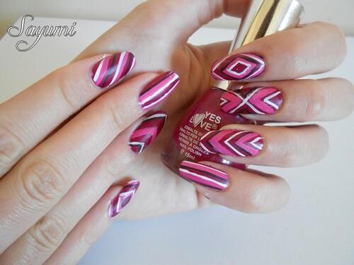 Nail Art Géométrie Abstrait