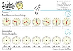 Exercices sur les heures