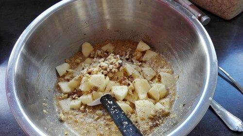 Mini muffins aux flocons d'avoine et pommes
