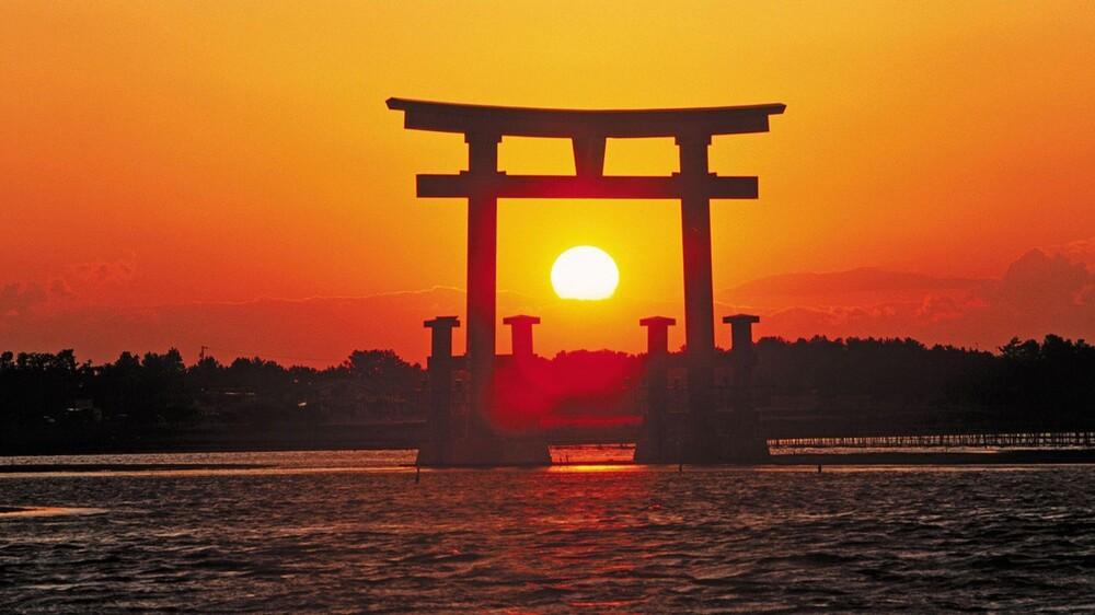 (Coucher de Soleil sur Miyajima)