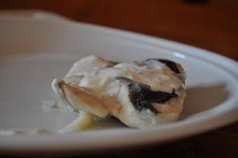 Filet de Merlu mariné et sa sauce au vin blanc sec