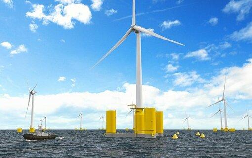 Une centaine de salariés travaillent dans les bureaux d'études à Paris, Brest et Nantes, notamment pour fournir les flotteurs des éoliennes du projet pilote au large de l'île de Groix et de Belle-Île.