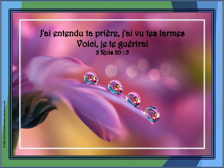 Voici, je te guérirai - 2 Rois 20 : 5