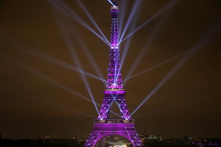 Les 130 ans de la Tour Eiffel Son et Lumière, Paris mai 2019