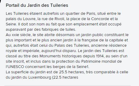 **    LES JARDINS de TULERIES & LE LOUVRE ext.**