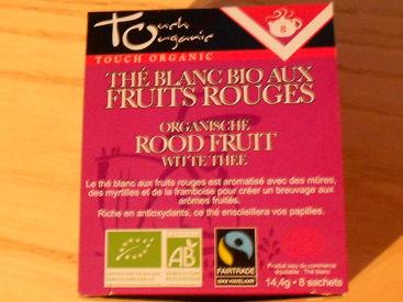 Thé blanc aux fruits rouges de chez Touch Organic