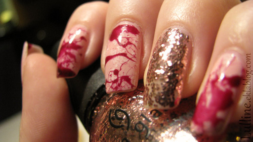 Nail Art - I'm a bloody princess ♥