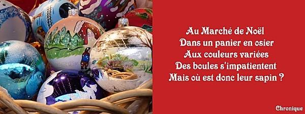 tanka marché de Noël