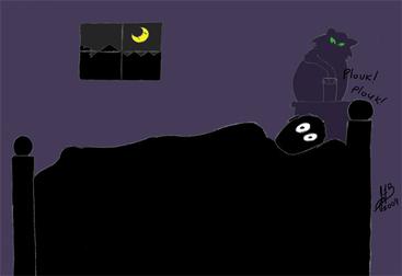 Insomnie - Dessin de JF L'internaute 2012