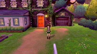 Route 2 : maison de la professeure Magnolia  [Screenshot Pokémon Épée Bouclier]