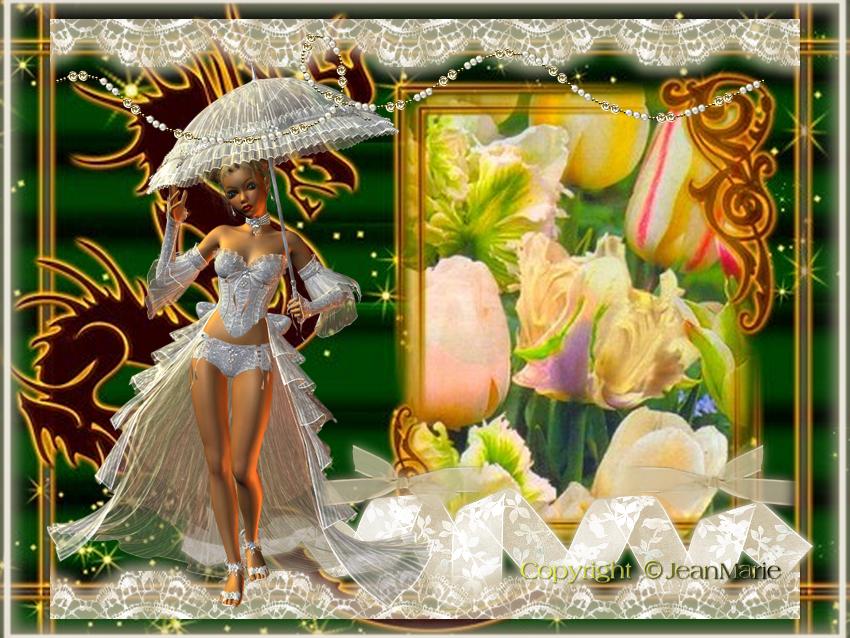 Femme a l'ombrelle (Copyright numéro de dépôt c97634 )