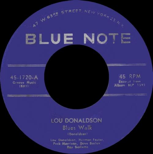 """Lou Donaldson : Album """" Blues Walk """" Blue Note Records BST 1593 [ US ]"""