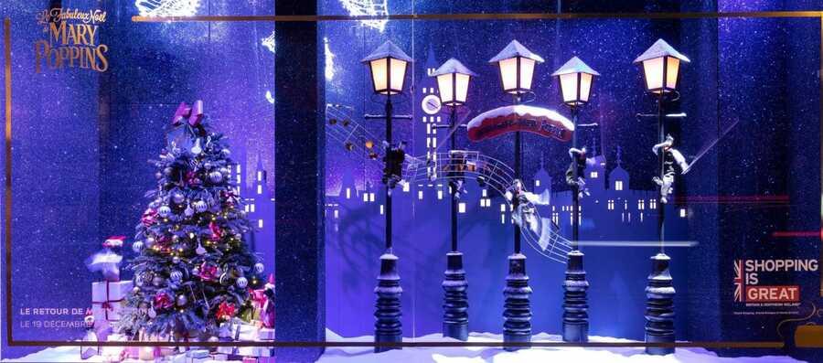 Illuminations et vitrines des grands magasins...