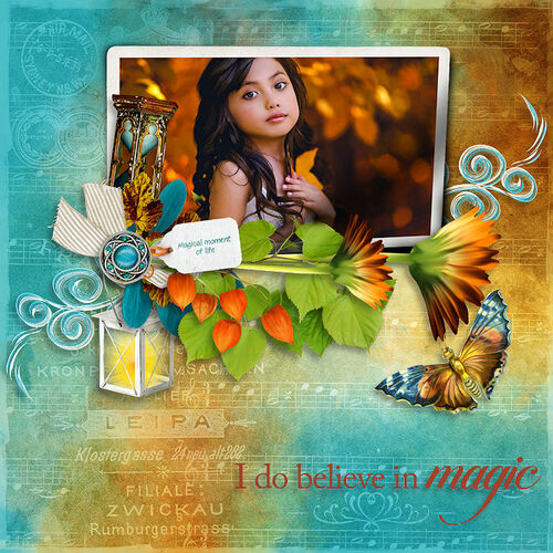 Magical Fall Story by dentelle scrap