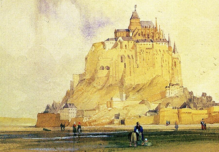 2/Le Mt St Michel au 19 ème siècle
