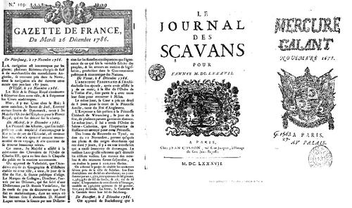 Les trois titres autorisés sous Louis XIV