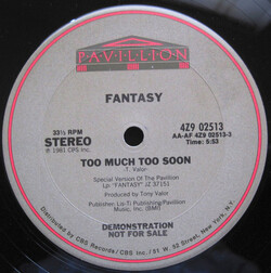 Fantasy - Too Much Too Soon