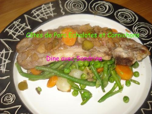Des Côtes de Porc aux Echalotes et Cornichons