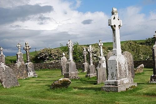 Clonmacnoise - Le cimetière