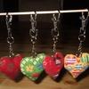 """pour un defi """"saint Valentin"""", de petits porte-clefs:"""