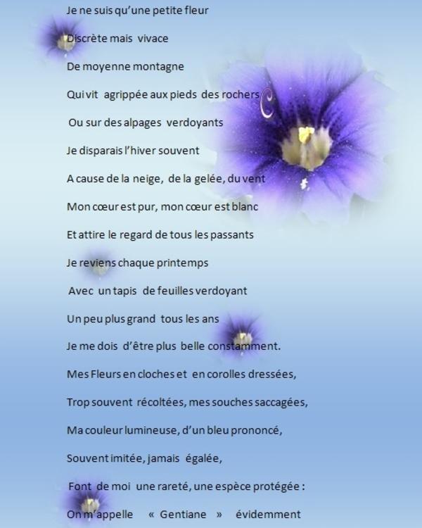 Poesie: Gentiane