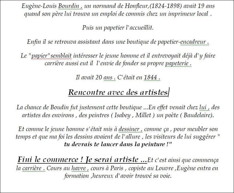 Boudin,un destin...