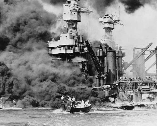 Pearl Harbor. Le cuirassé américain West Virginia