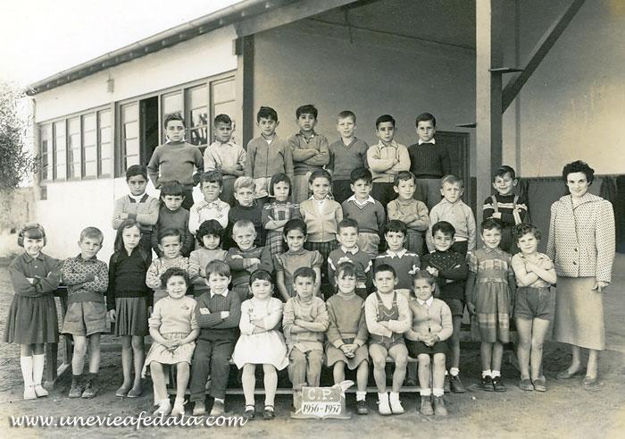 Photo de classe Fedala - ecole du port CP - Année scolaire 1955-56