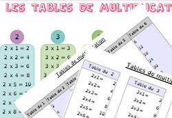 Fournir des tables de multiplication