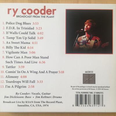 Le Choix des lecteurs # 150 : Ry Cooder - At the Record plant - 23 Juillet 1974