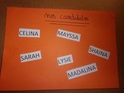 les résultats du vote des CM2a