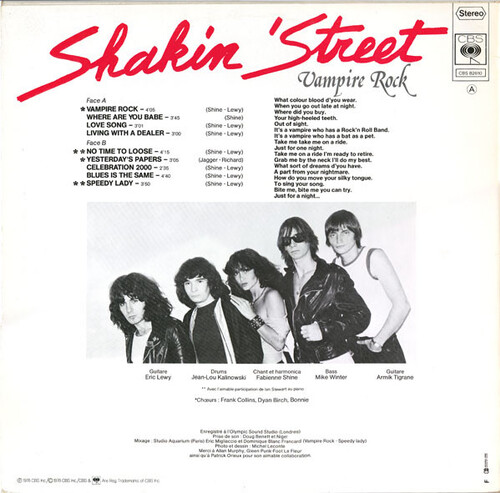 Frenchy But Chic # 117 : Shakin' Street - Vampire Rock (1978)