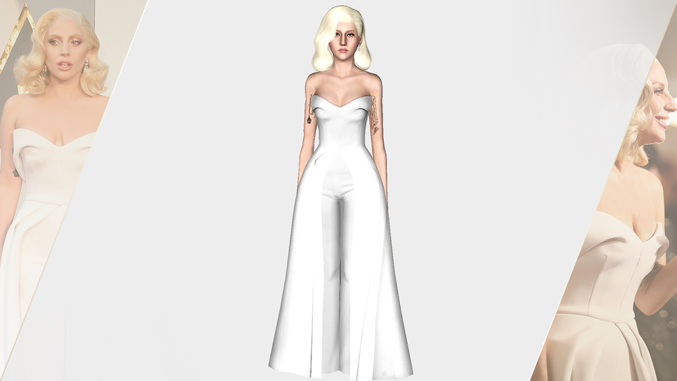 BRANDON MAXWELL 2016 WHITE SCULPTURAL DRESS