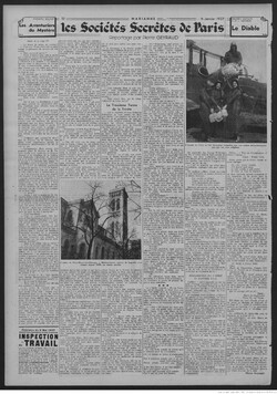 Les Sociétés Secrètes de Paris, Pierre Geyraud - Marianne (6 jan 1937)