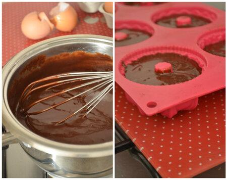 Mini Bundt Cake Fondant au Chocolat & Crème de Marron