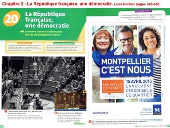 La République française, une démocratie.