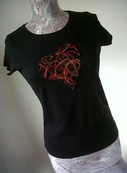 """Tee Shirt """"coeur""""  Au Jardin d'Aurélie"""