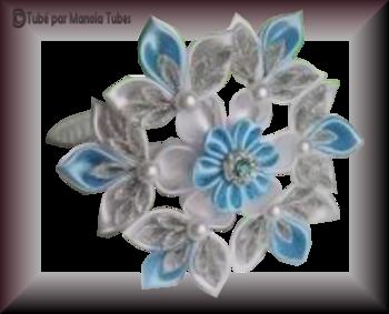 Tube fleur en tissus 2961