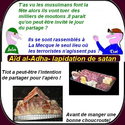 Humour du mercredi avec l'Aïd al-Adha, chômage , bikini etc.