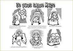 Je vous salue Marie à colorier