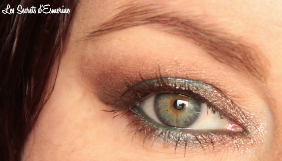 chocolat pistache, maquillage, makeup, mu, marron, vert, yeux, eye